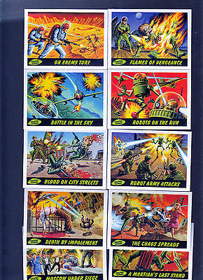Mars Attacks Heritage 2012 Topps Complete Deleted Scenes Insert Card Set