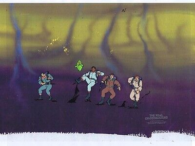 The Real Ghostbusters Original Production Animation Cel & Copy Bkgd #A17700