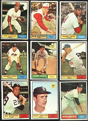 Topps 1961 Baseball Cards-Select from a list