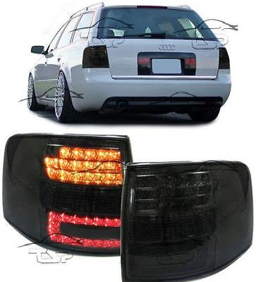 Rear Tail Led Lights For Audi A6 C5 98-05 Smoke Avant Lamps