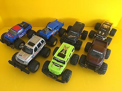 Lot Of 7 New Bright -4x4 Battery Operated Trucks- Similar To Stomper