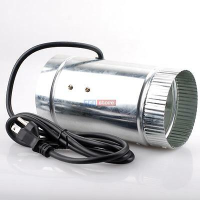 """4"""" inch Inline Duct Booster Fan Ventilation Exhaust Air Blower 110V / 60Hz"""