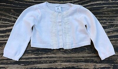 Baby Girl's Carter's Ruffle Cardigan Sweater, Size 6 Months
