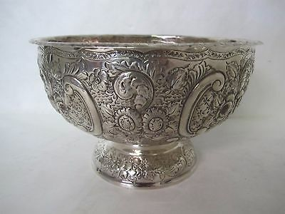 Gorgeous 19Th Cent. Very Large Sterling English Punch Bowl