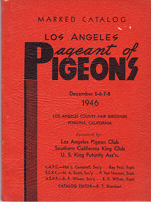 Los Angeles Pigeon Club~Pageant Of Pigeons 1946 Marked Catalog~New Cond~Historic