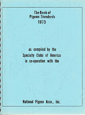 National Pigeon Assoc ~ Book Of Pigeon Standards ~ 1973 ~ Spiral Bound ~ Vg