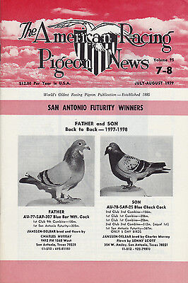 American Racing Pigeon News ~ 5 Terrific Issues ~ July-Dec 1979~ New