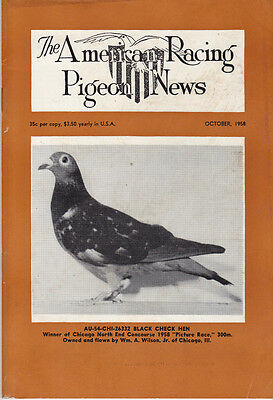 American Racing Pigeon News ~ Oct-Nov-Dec 1958 ~ Excellent Reading~Rare