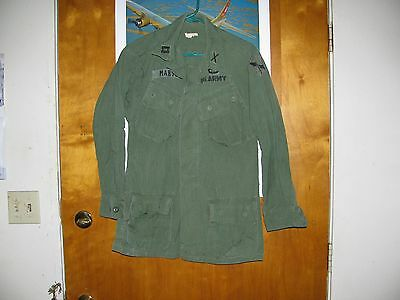 Vietnam Era Us Army Officers Jungle Jacket Patched Out Theater Made (1St Field F