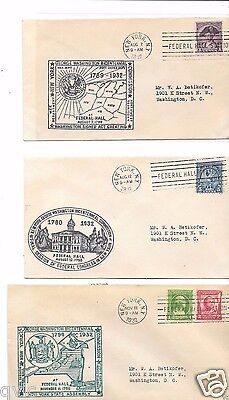 Federal Hall  9 Different Covers  1932 . , See Scans V,good Condition