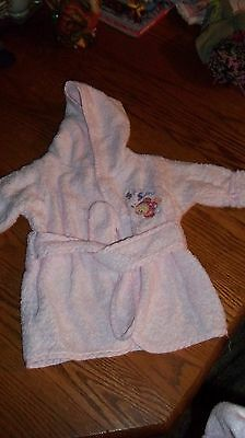 Just Born Girls Robe 0-9 Month's Infant Excellant Condition Baby Light Pink