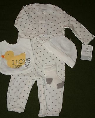 Carter's Baby Unisex 4 Piece Ducky Mommy Layette Set - 9 months- FREE SHIPPING