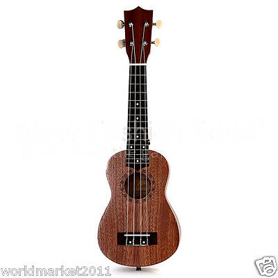 Brown 21 Inch 4 String Ukulele Guitar Acoustic Performance Musical Instrument