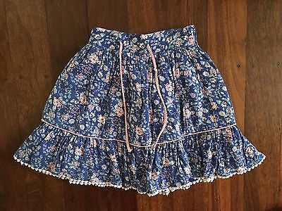 Pumpkin Patch Skirt with Floral Print - Size 3