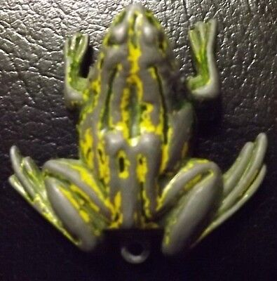 Vintage Metal Hopping Frog Clicker Toy Mouth Opens Old Unusual Unique Piece