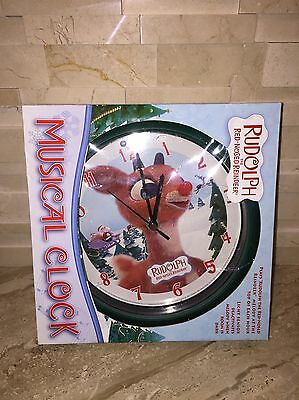 Rudolph The Red Nosed Reindeer Musical Clock