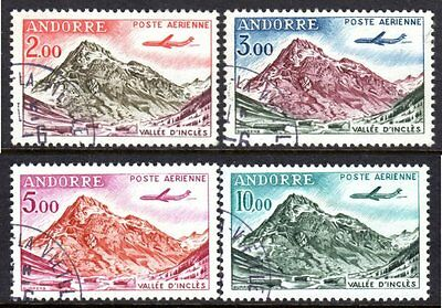 Andorra, French Administration Scott #C5-8 VF Used 1961-64 D'Incles Valley