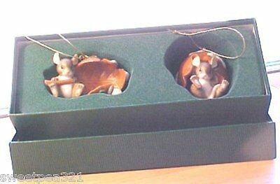 Charming Tails Porcelain The Drifters Ornaments (2) (Mice) [Ltd Ed]