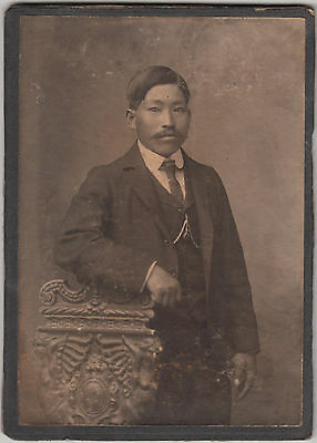 Antique Photo / Young Man in Suit / Japanese / c. 1905