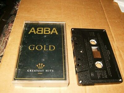 ABBA Gold Greatest Hits Cassette,Used,Canada.
