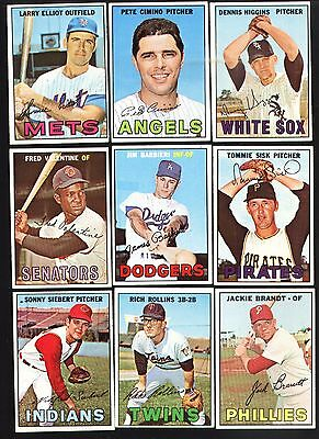 Topps 1967 Baseball Cards-Select from a list