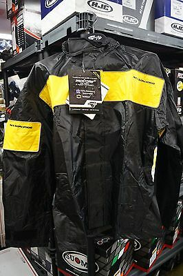 NELSON RIGGS MOTORCYCLE  RAIN SUIT PROSTORM PS-1000 - MENS 3xl xxl BLACK YELLOW