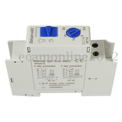 220V AC 16A DIN Rail Staircase Electronic Relay Switch Time Timer For Corridor