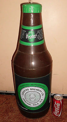 COOPERS PALE ALE BEER BOTTLE PROMO LGE INFLATABLE ALCOHOL BOURBON WHISKY 1980s