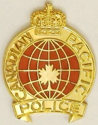 Canadian Pacific Police - Canada - Large QC Badge Pin - CPR Railway Police