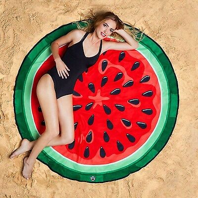 GIANT 5 FOOT  Watermelon Beach Pool Shower Towel Blanket - BigMouth Inc.