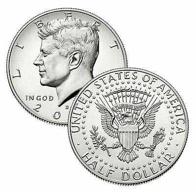 2015 P&d Set Kennedy Half Dollar Clad Two Uncirculated U.s.mint Coins
