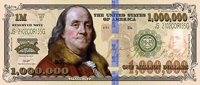 One MILLION DOLLAR BILL Living Waters Tract - Bulk discount