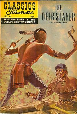 Classics Illustrated #17 - Deerslayer - HRN 166, 25¢ cover, 1968
