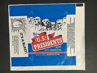 U.S PRESIDENTS TRADING CARD WRAPPER BY TOPPS FROM 1970's
