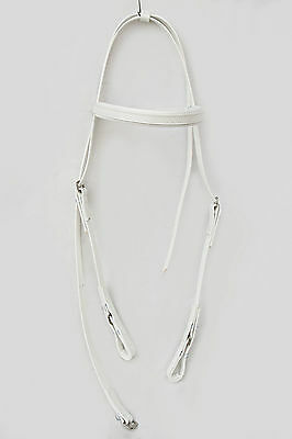 Light-Weight Race Head Bridle from PVC - White