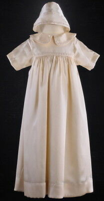 Champagne Baby Boy Girl Christening Baptism Dresses Gown Robe Infant Size XS/ML