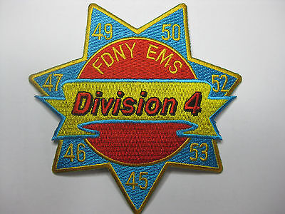 U.s. Fire Brigade Fire Patch Patch Fdny Ems Division 4 New