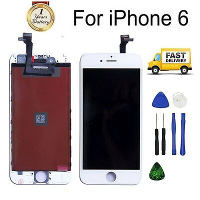 """For iPhone 6 4.7"""" White LCD Touch Display Assembly Digitizer Screen Replacement"""