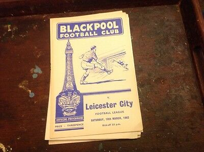 Football Programme Blackpool V Leicester City 1961/62