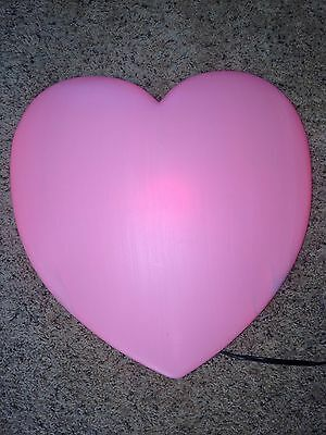 """Last New PinkUnion Valentines Day 19"""" Blow Mold Lighted Heart Wall Decoration"""