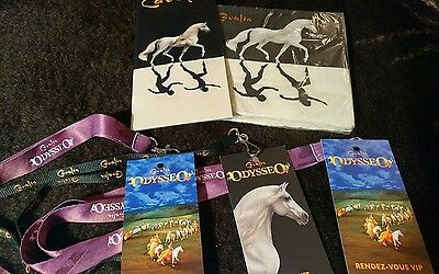 Brand New Cavalia Odysseo Rare 20 Napkin Pkt And 3  Rendez-Vous Vip Lanyards..