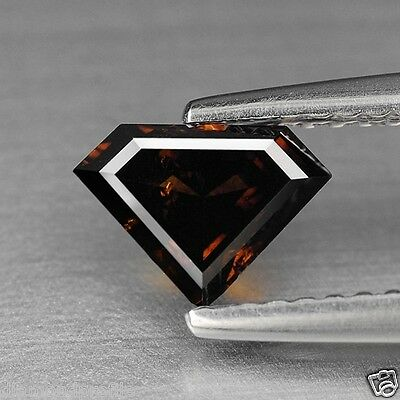 0.77 Cts FANCY SPARKLING UNTREATED RED COGNAC COLOR NATURAL DIAMONDS- SI1
