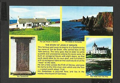 Vintage Colour Postcard The Story of John O' Groats Caithness   unposted