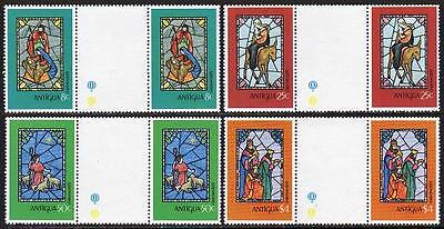Antigua 552-555 gutter,MNH.Michel 553-556. Christmas 1979.Stained Glass windows.