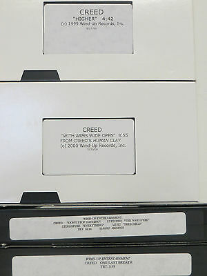 RARE! Set of 4 CREED Video VHS Tapes HIGHER With Arms Wide Open ONE LAST BREATH
