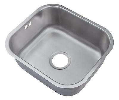 Brushed Stainless Steel Undermount Kitchen Sink Sink 1.0 One Bowl A15 bs