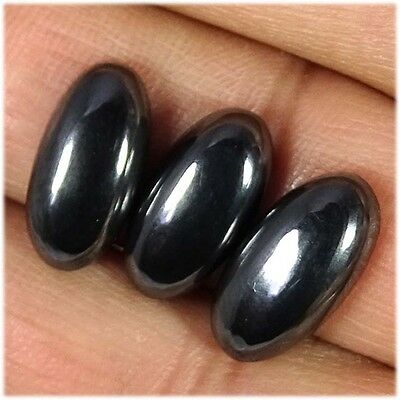 10.40Cts.  3 PIECE 100% NATURAL UNTREATED HEMATITE OVAL CABOCHON LOOSE GEMSTONES