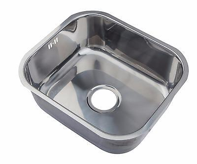 Polished Stainless Steel Undermount Kitchen Sink Single 1.0 Bowl 465x410 A15 mr
