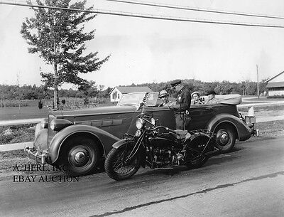 Packard automobile and Indian motorcycle photo photograph