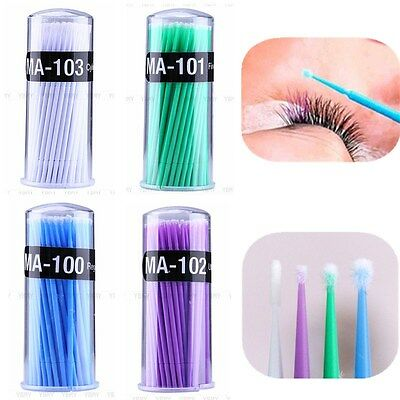 100x Microbrush monouso Applicatori Ciglia estensioni Tampone microbrushes